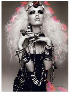 all about the accessories and big hair