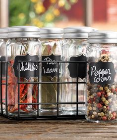 Country Chic Spice Jars with Chalkboard Labels