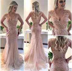 Deep V Neck ,Sexy ,Mermaid Sweep Train,Handmade ,Beading Gala Dresses, Wedding Party Dresses, Homecoming Dresses, Dress Outfits, Evening Dresses, Great Gatsby Dresses, Nice Dresses, Sexy Dresses, Formal Dresses