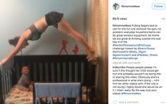 This Mother's Impressive Baby Crib Workout Brings All the Haters to the Yard. Fit Moms, Parenting Styles, Baby Cribs, No Equipment Workout, Household Items, Female Bodies, Bring It On, Challenges, Yard