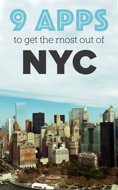 9 apps to help you get the most out of New York City - Even for peeps who know their way around – some awesome ideas- Happy Hour finder? Place for a breather to work quietly? New York Lodges with Swimming pools: Visit New York City, New York City Travel, New York City Trip, New York City Tourism, New York 2017, New York App, New York Vacation, Trips To New York, A New York Minute