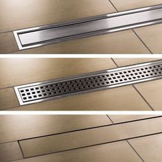 Schluter trench drain for curbless master shower Bathroom Drain, Shower Drain, Shower Floor, Bathroom Renos, Bathroom Flooring, Bathroom Renovations, Master Bathroom, Master Shower, Linear Drain