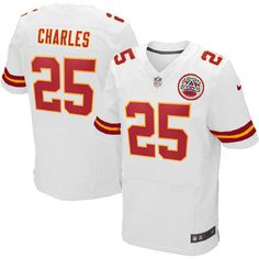Youth Kansas City Chiefs #25 Jamaal Charles Elite White Jersey $79.99