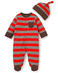 Offspring Infant Boys' Multistripe Footie & Hat Set - Sizes 0-9 Months | Bloomingdale's