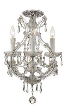 Crystorama Maria Theresa 4 Light Elements Crystal Chrome Ceiling Mount I