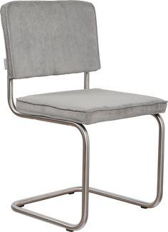Ridge Rib Brushed stoel Zuiver - lichtgrijs
