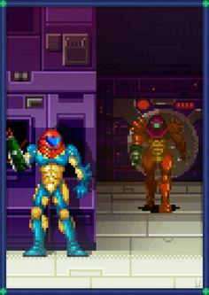 Metroid fusion SA-X sequence.