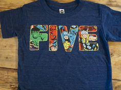 Avengers Shirt birthday tee Spiderman Hulk by lilthreadzclothing, $27.00