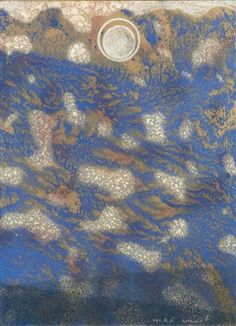 BLAUE LANDSCHAFT MIT MOND (BLUE LANDSCAPE WITH MOON) By Max Ernst