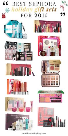 A detailed list of the best Sephora holiday gift sets for 2015! | - for more beauty, makeup, and nail art tips and ideas, go to www.sparkofallure.com
