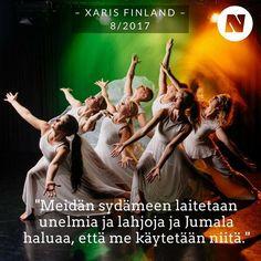 Xaris Finland ja D.F. tulevat molemmat Maata Näkyvissä -festareille – tanssimaan. Miten uskosta voi kertoa liikkeillä tanssijan? 💃🏼 #xarisfinland #dancefamily #2xgospel #maatanäkyvissä #nuotta