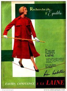 Original-Anzeige / Publicité 1957 - (en français) LA LAINE - ca. 240 x 320 mm