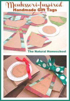 Montessori-Inspired Handmade Gift Tags