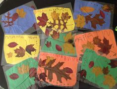 Thanksgiving placemats. Collect and press colorful leaves.  Write the names of your guests on construction paper and decorate, include leaves and laminate.  Makes for a colorful table and the guest can take them home after the meal!
