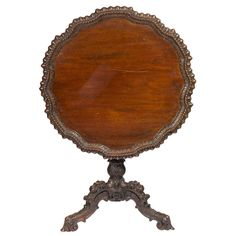 George III Style Mahogany Tripod Tilt-Top Table | From a unique collection of antique and modern dessert tables and tilt-top tables at http://www.1stdibs.com/furniture/tables/tilt-top-tables-dessert-tables/