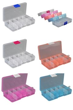 8 Slots Grids Storage Box Case Organizer Display Bead Makeup Clear