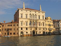 Palazzo Balbi. Built from 1582 by Alessandro Vittoria (1525-1608) as the residence of the Venetian patrician family of the Balbi. The palace has two floors and a symmetrical façade, The lower floor has a large portal in the center and two minor entrances at the sides