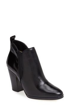 Free shipping and returns on MICHAEL Michael Kors 'Brandy' Leather Bootie (Women) at Nordstrom.com. A svelte almond-toe bootie takes inspiration from the on-trend Chelsea boot with a streamlined silhouette and stretchy elastic goring at the sides for a custom fit.