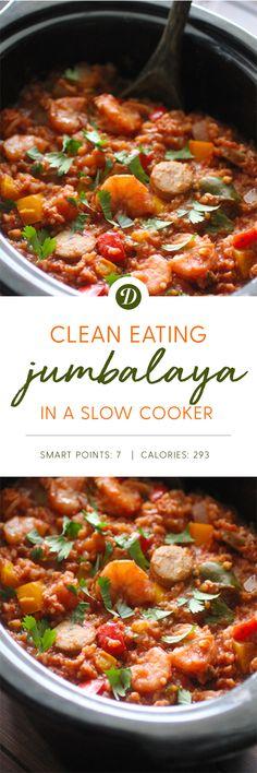 Clean Eating Slow Cooker Jambalaya