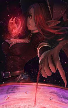 """league-of-legends-sexy-girls: """"Bewitching Morgana by Kairui-chan """""""