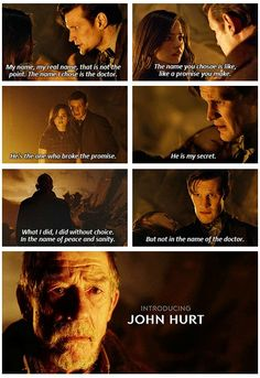 IT HAPPENED!!!!!!!! YES John Hurt is the Secret.... WHAAAA I can't contain the explosion in my head NOVEMBER 23!!!! whyyyyyyyyyyyy I can't wait for the 50th this was such a GREAT episode and I jsut can't! agh