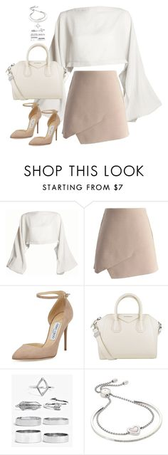 """Sem título #4931"" by fashionnfacts ❤ liked on Polyvore featuring DAMIR DOMA, Chicwish, Jimmy Choo, Givenchy, Boohoo and Michael Kors"