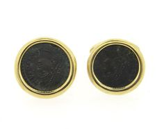 Bulgari Bvlgari 18K Gold Ancient Coin Cufflinks Featured in our upcoming auction on December 14, 2015 11:00AM EST!
