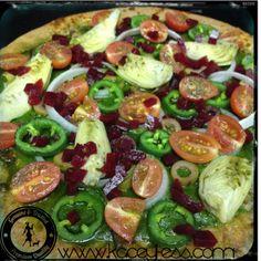 Veggie Pizza with Pesto Sauce