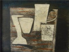 Ben Nicholson, May 1955 (Carved forms and indigo)