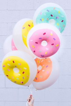 We simply HAVE to get our hands on some doughnut balloons! Not gonna lie, I can already smell our next adult birthday theme.