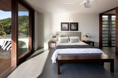 Main bedroom connected to exterior deck  'Byron Bay Beach House'