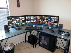 Twenty Amazing Computer Arrangements For Gamers Pc Gaming Table, Gaming Computer Setup, Simple Computer Desk, Office Setup, Pc Setup, Room Setup, Ultimate Gaming Setup, Watercooling Pc, Home Office
