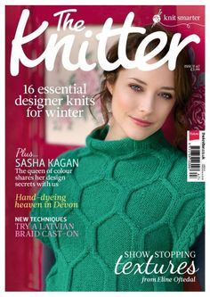 January issue of The Knitter. My designe made it to the front page!
