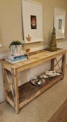 Distressed Sofa Console Table | Rustic sofa and Wood table