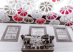Rua em Águeda, Portugal.