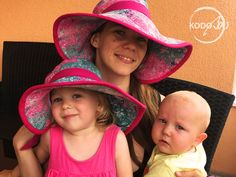 Natibaby Supernova wrap scrap summer mommy and me hats made by KodoBa #Natibaby #Supernova #KodoBa #summerhat #mommyandme