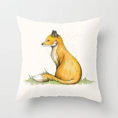 Fox Throw Pillow by Lynette Sherrard Illustration and Design - $20.00