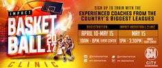 Join Impact Basketball 2017 Clinic and train with the experienced coaches from NCAA-S, MSSA, UAAP, NCAA and Top Coaches from Jr. NBA Philippines!  Visit registration booth at the Lower Ground Level at Event Center beside Food Court. #SMEvents #EverythingsHereAtSM #fashion #style #stylish #love #me #cute #photooftheday #nails #hair #beauty #beautiful #design #model #dress #shoes #heels #styles #outfit #purse #jewelry #shopping #glam #cheerfriends #bestfriends #cheer #friends #indianapolis…