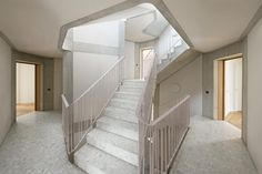 Mathis Kamplade > Housing in Oerlikon Staircase Railings, Stairs, Staircases, Zurich, Terrazzo, Hall Flooring, Entrance, Living Spaces, Floor Plans