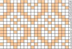Heart fair isle pattern