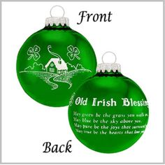 Old Irish Blessing Ornament
