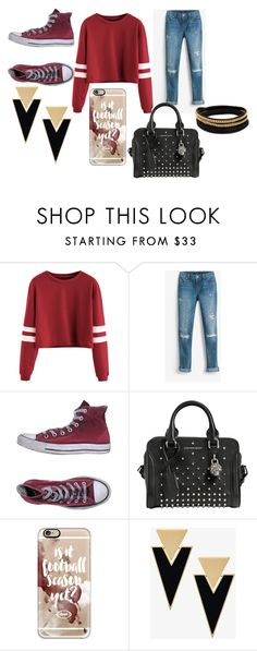 """""""Is It Football Season Yet?"""" by pcgcooper-1 on Polyvore featuring White House Black Market, Converse, Alexander McQueen, Casetify, Yves Saint Laurent and Vita Fede"""