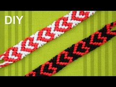 ▶ Heart Friendship Bracelet for Valentines Day / DIY Tutorial - YouTube