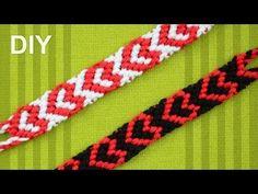 ▶ Heart Friendship Bracelet for Valentines Day / DIY Tutorial - YouTube