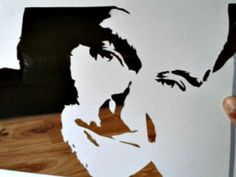 The fabulous #RobinWilliams as a papercut by Mrs Scuffer's Handcut.  For your portrait by her get in touch via her website, social media or her Etsy shop