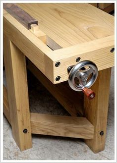 This is reportedly the best tail vise available for heavy duty workbenches...if only I could be lucky enough to get one.