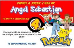 Invitacion pokemon con fondo pokebola