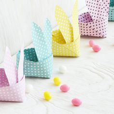DIY Origami Easter Bunny Basket Tutorial