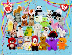 15 Happy Meal Toys From The That Actually Blew Rare Beanie Babies, Beenie Babies, Mcdonalds Toys, 90s Toys, Beanie Boos, Disney Toys, Fb Memes, Childhood Memories, Beanies