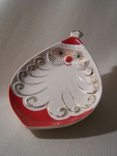 Holt Howard Vintage Santa Claus Christmas Holiday Dish